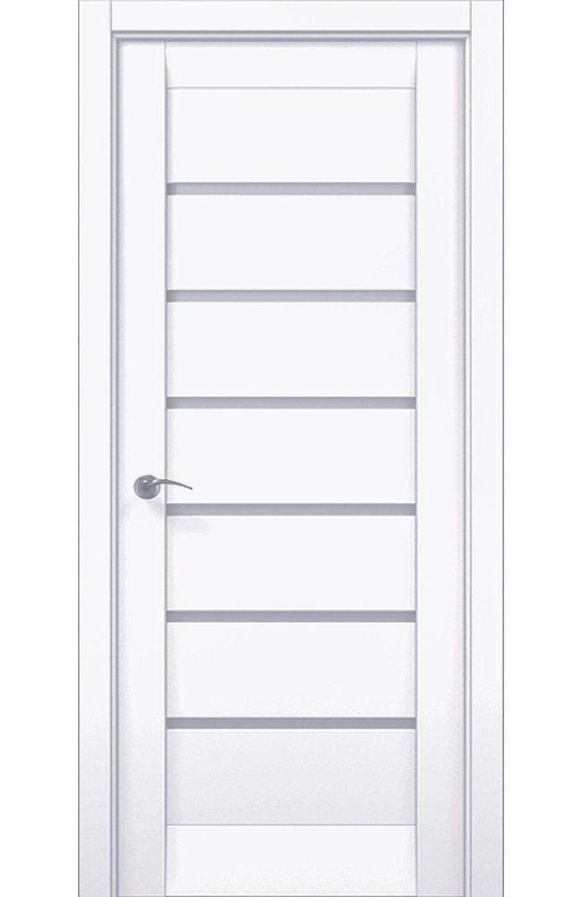 Двери ML-14c Папа Карло белый мат со стеклом - Межкомнатные двери — фото №1