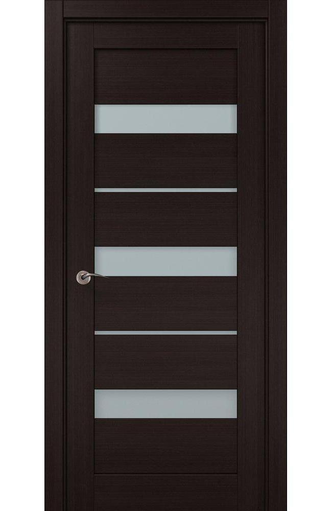 Двери ML-22c Папа Карло венге стекло Сатин - Межкомнатные двери — фото №1