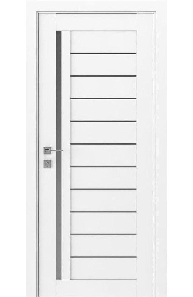 Двери Modern Bianca Родос белый мат полустекло - Межкомнатные двери — фото №1