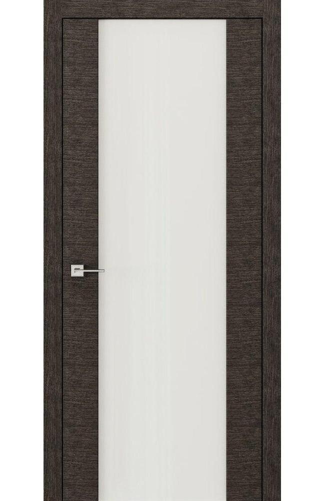 Двери Modern Flat Родос графит с белым стеклом Триплекс - Межкомнатные двери — фото №1