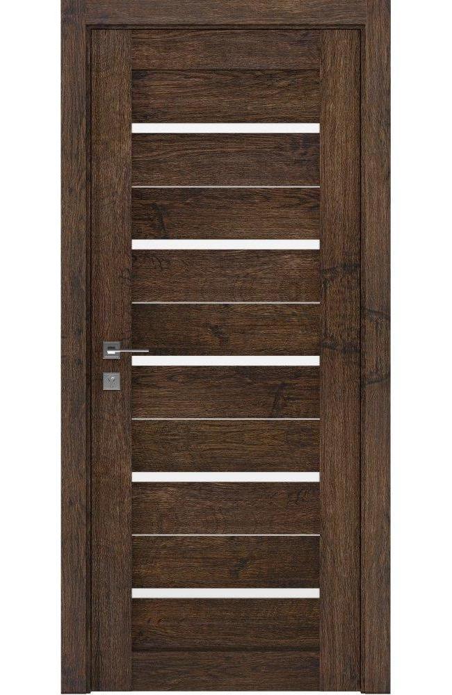 Двери Modern Lazio Родос акация темная полустекло - Межкомнатные двери — фото №1