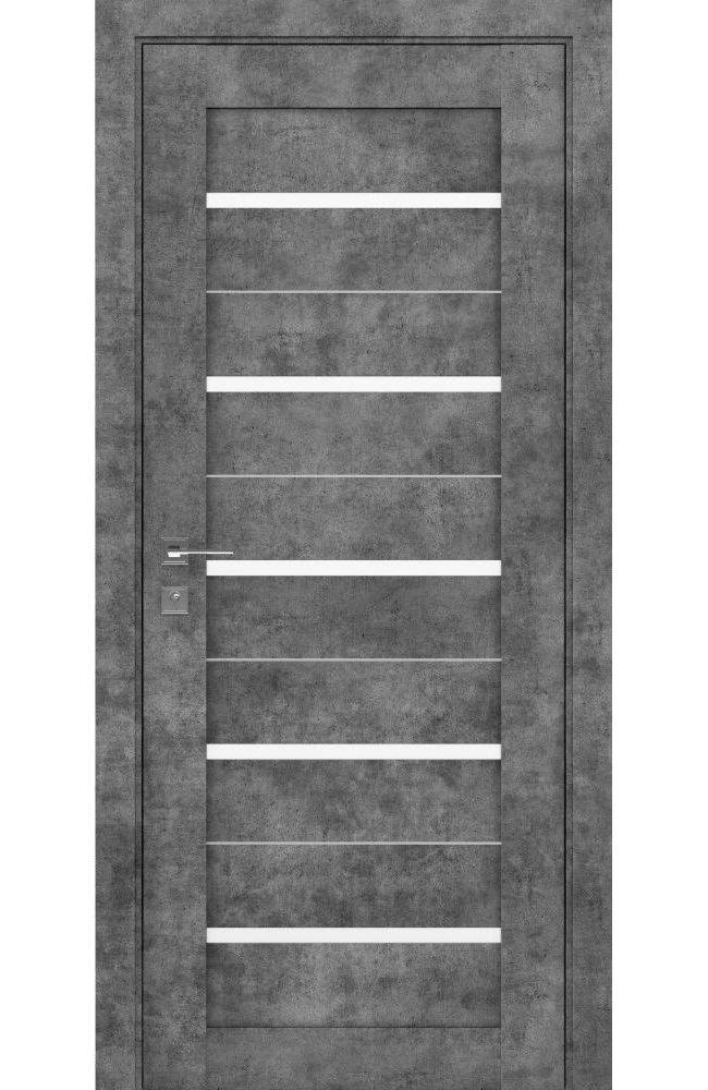 Двери Modern Lazio Родос серый мрамор полустекло - Межкомнатные двери — фото №1