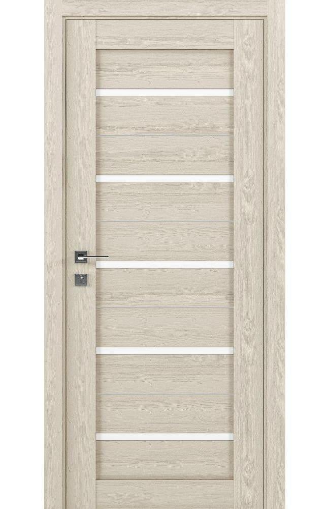 Двери Modern Lazio Родос каштан беж полустекло