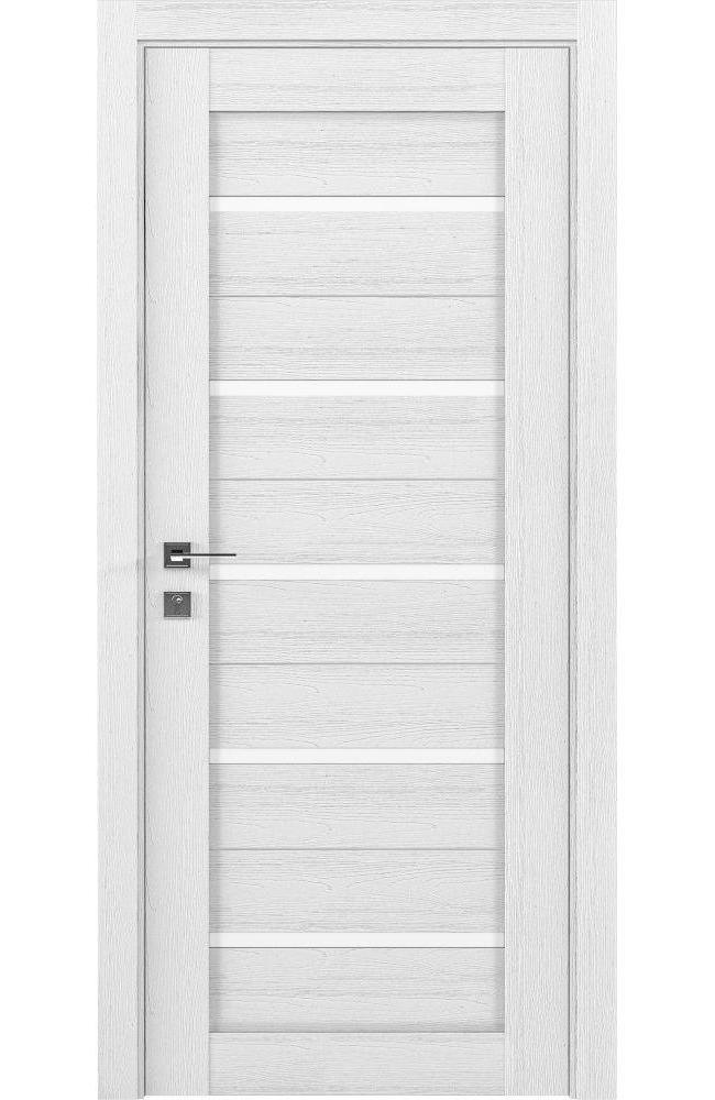 Двери Modern Lazio Родос каштан белый полустекло - Межкомнатные двери — фото №1