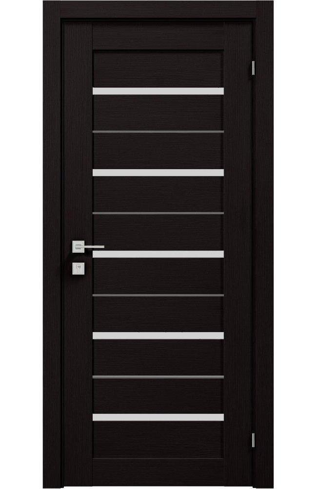 Двери Modern Lazio Родос венге шоколадный полустекло