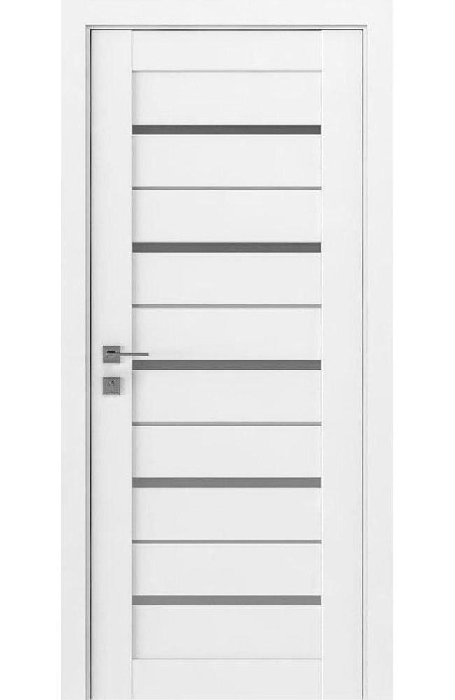 Двери Modern Lazio Родос белый мат полустекло - Межкомнатные двери — фото №1