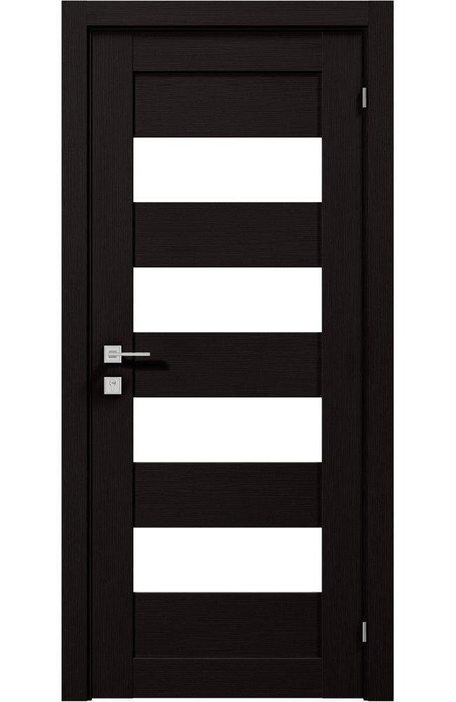 Двери Modern Milano Родос венге шоколадный полустекло - Межкомнатные двери — фото №1