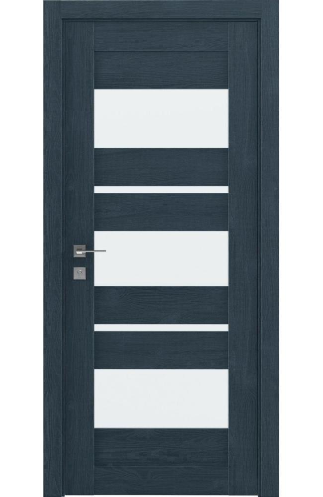 Двери Modern Polo Родос сосна браш кобальт со стеклом - Межкомнатные двери — фото №1