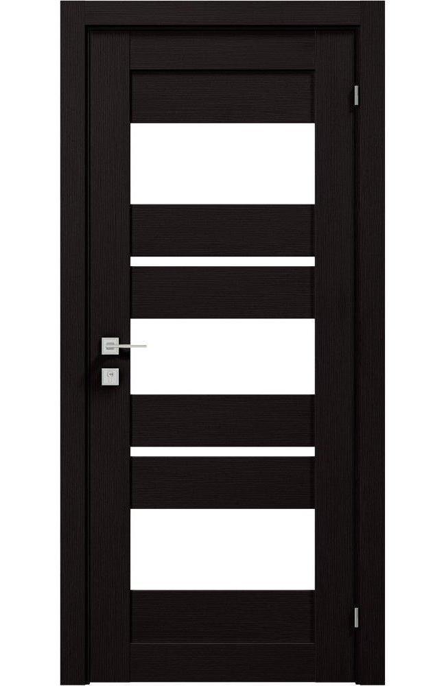 Двери Modern Polo Родос венге шоколадный со стеклом - Межкомнатные двери — фото №1