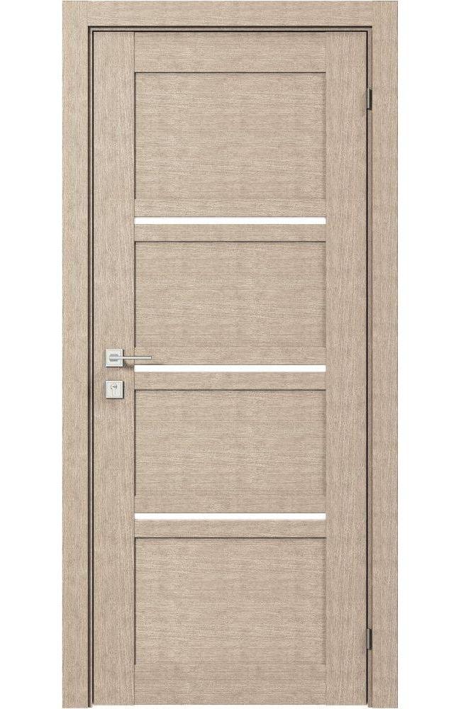 Двери Modern Quadro Родос крем полустекло - Межкомнатные двери — фото №1