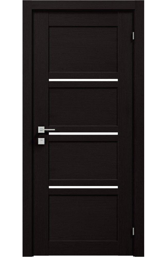 Двери Modern Quadro Родос венге шоколадный полустекло - Межкомнатные двери — фото №1
