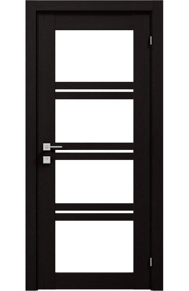 Двери Modern Quadro Родос венге шоколадный со стеклом - Межкомнатные двери — фото №1