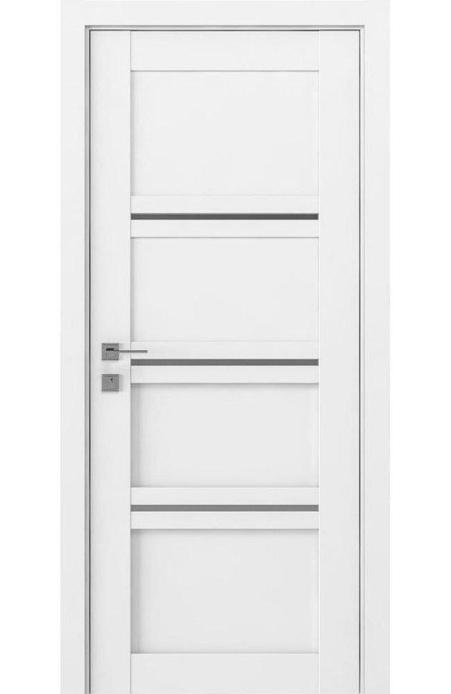 Двери Modern Quadro Родос белый мат полустекло