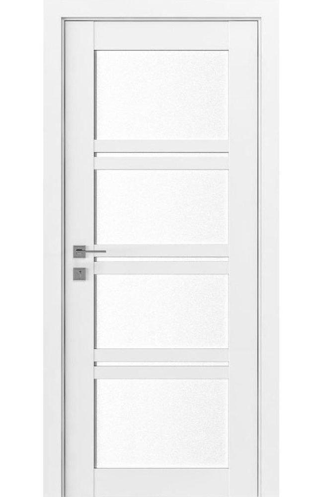 Двери Modern Quadro Родос белый мат со стеклом