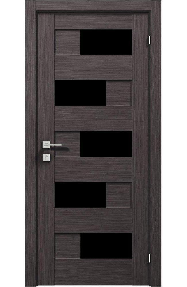 Двери Modern Verona Родос графит полустекло черное - Межкомнатные двери — фото №1