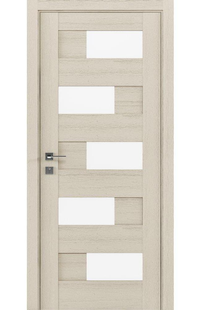 Двери Modern Verona Родос каштан беж полустекло