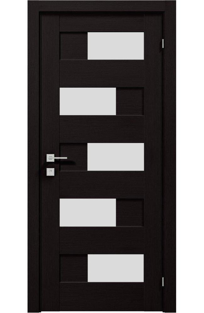 Двери Modern Verona Родос венге шоколадный полустекло - Межкомнатные двери — фото №1