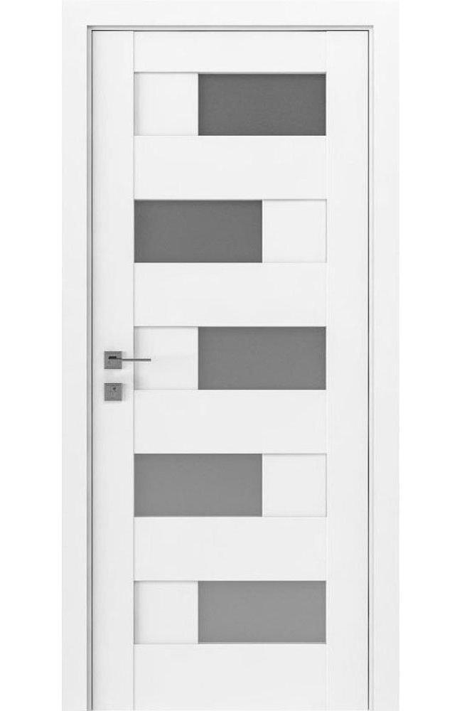 Двери Modern Verona Родос белый мат полустекло