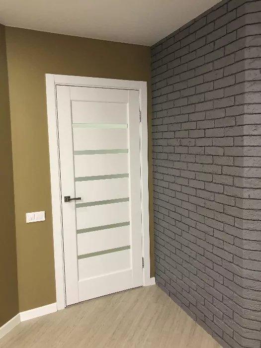 Двери Линнея Новый Стиль белый мат премиум стекло Сатин - Межкомнатные двери — фото №16