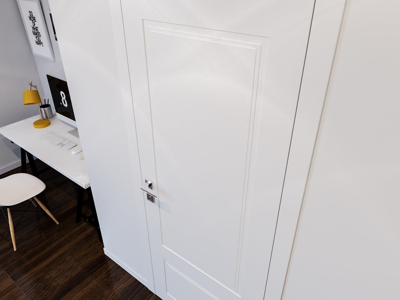 Двери Cortes Galant Родос белая эмаль глухое - Межкомнатные двери — фото №1