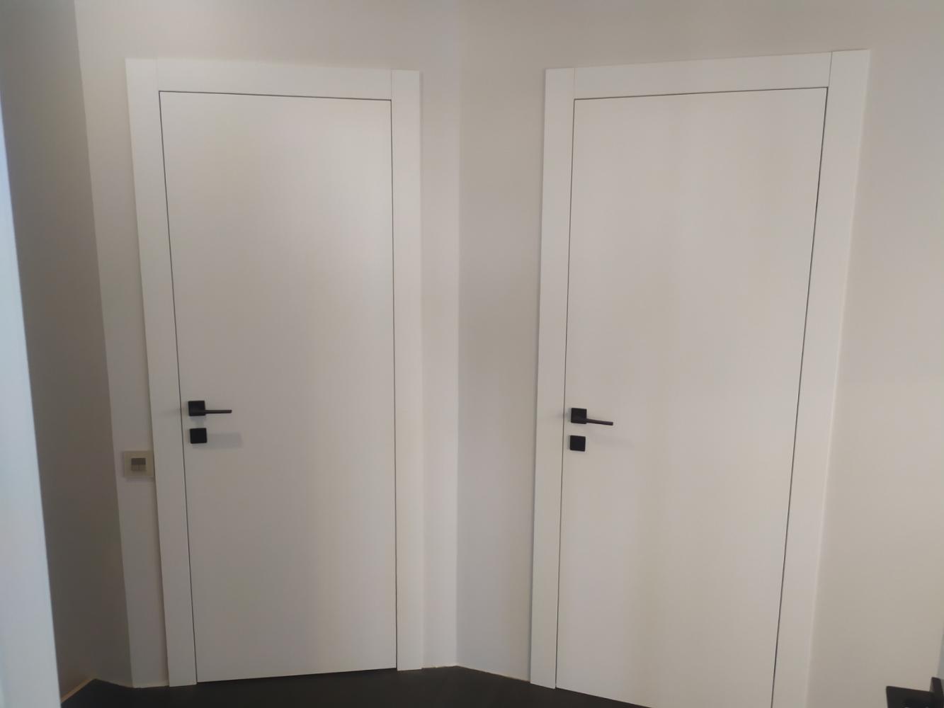 Двери Cortes Prima Родос белая эмаль глухое - Межкомнатные двери — фото №1