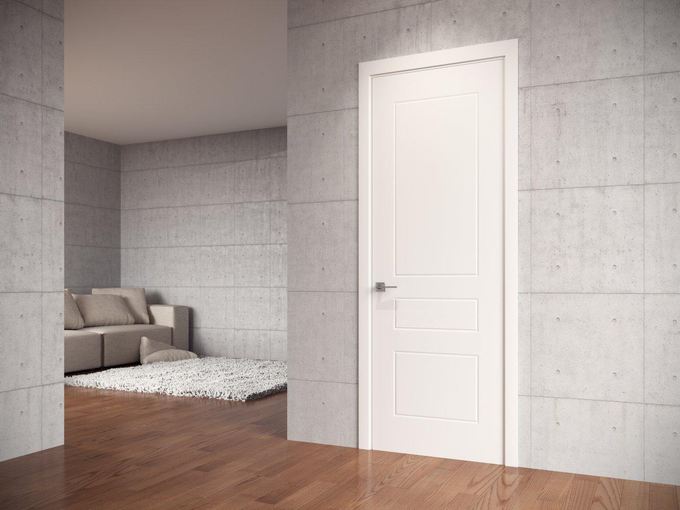 Двери Cortes Salsa Родос белая эмаль глухое - Межкомнатные двери — фото №1