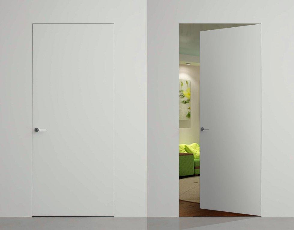 Двери скрытого монтажа белые с покраской эмалью ral 9016 Invisible - Межкомнатные двери — фото №1