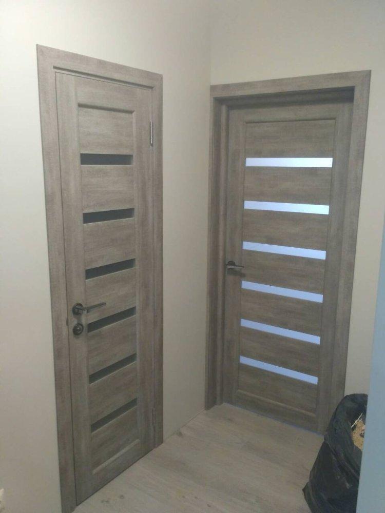 Двери Porto PR-01 Корфад эш вайт стекло Сатин - Межкомнатные двери — фото №1