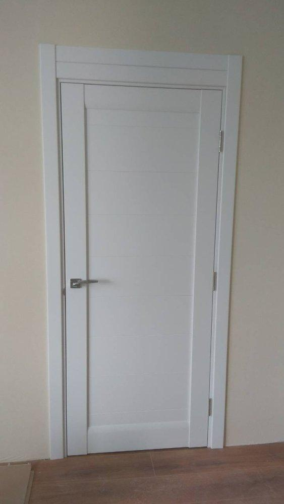 Двери ML-04c Папа Карло белый мат глухое - Межкомнатные двери — фото №1
