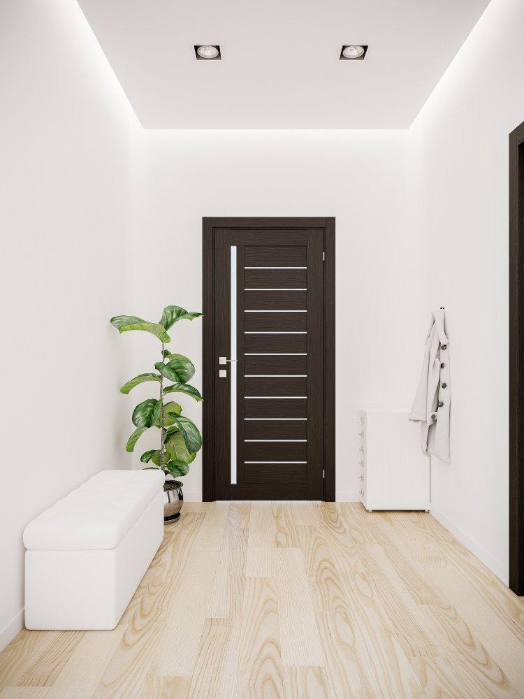 Двери Modern Bianca Родос венге шоколадный полустекло - Межкомнатные двери — фото №1