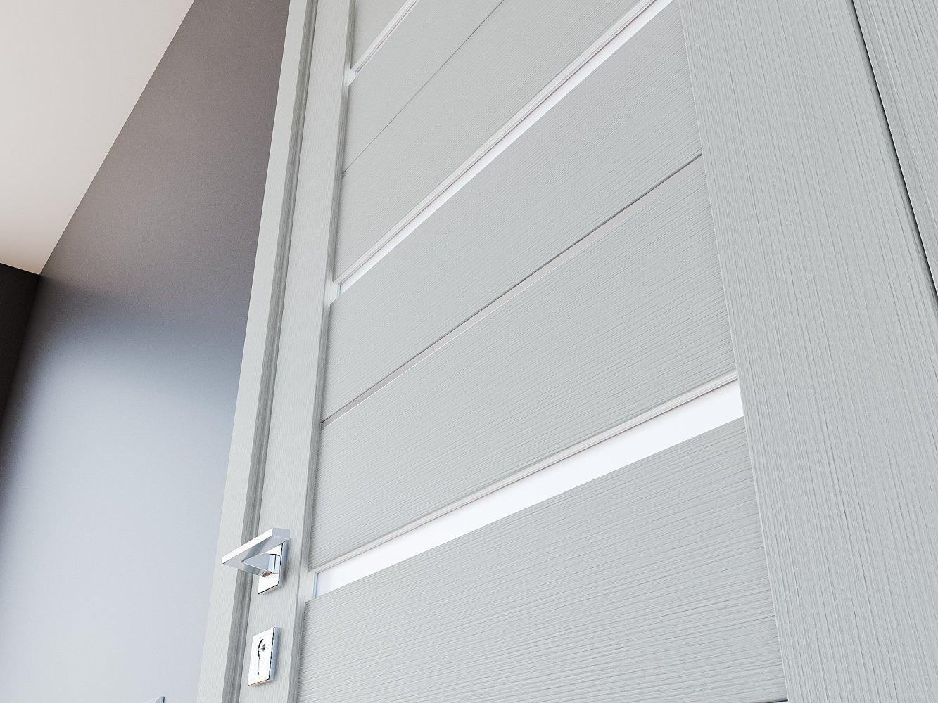 Двери Modern Lazio Родос сосна крем полустекло - Межкомнатные двери — фото №1