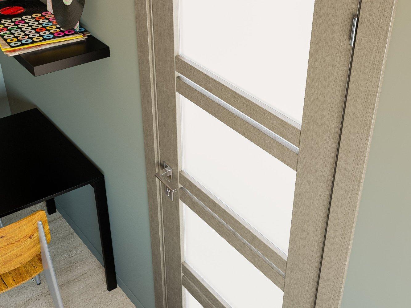Двери Modern Quadro Родос крем со стеклом - Межкомнатные двери — фото №1