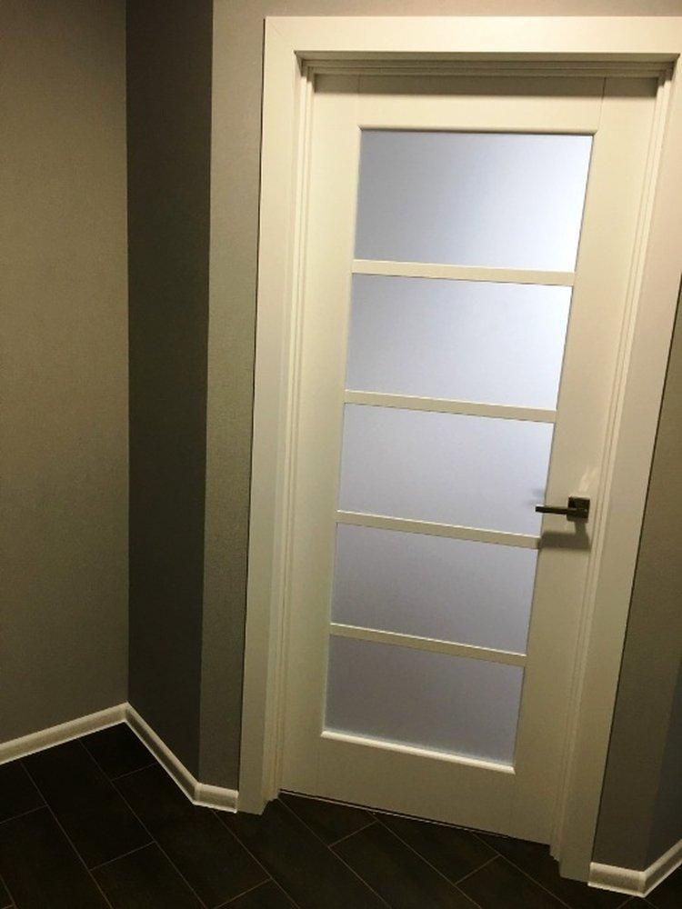 Двери Муза Новый Стиль белый мат премиум стекло Сатин - Межкомнатные двери — фото №1