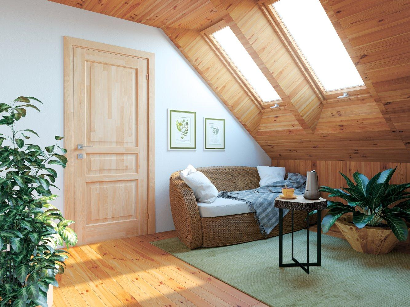 Двери Woodmix Praktic Родос сосна натуральная глухое - Межкомнатные двери — фото №1