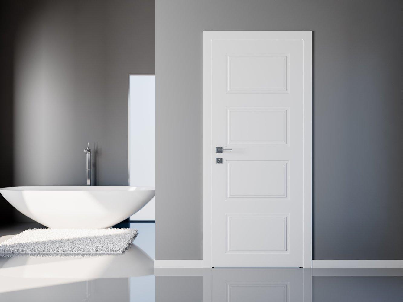 Двери Cortes Dolce Родос белая эмаль глухое - Межкомнатные двери — фото №2
