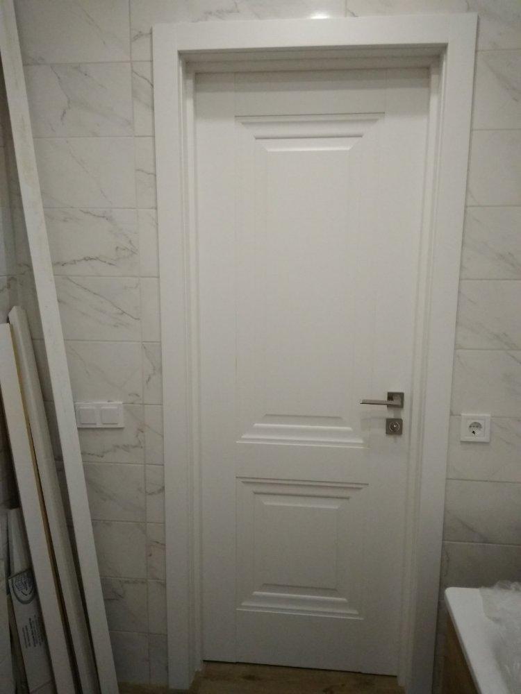 Двери Имидж Новый Стиль белый мат премиум глухое без молдинга - Межкомнатные двери — фото №2
