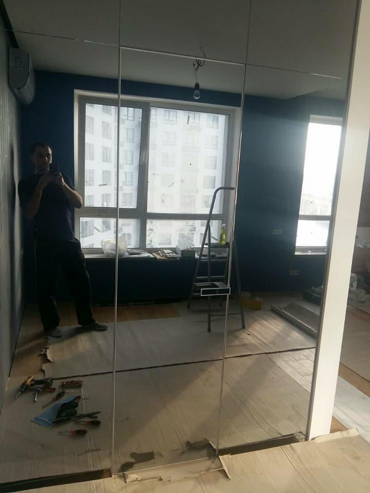 Двери скрытого монтажа с зеркалом серебро с двух сторон Invisible - Межкомнатные двери — фото №2