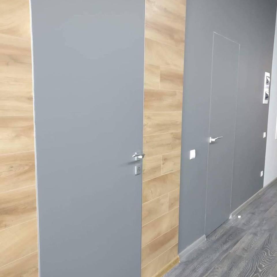 Двери скрытого монтажа серые с покраской эмалью ral 7001 Invisible - Межкомнатные двери — фото №2
