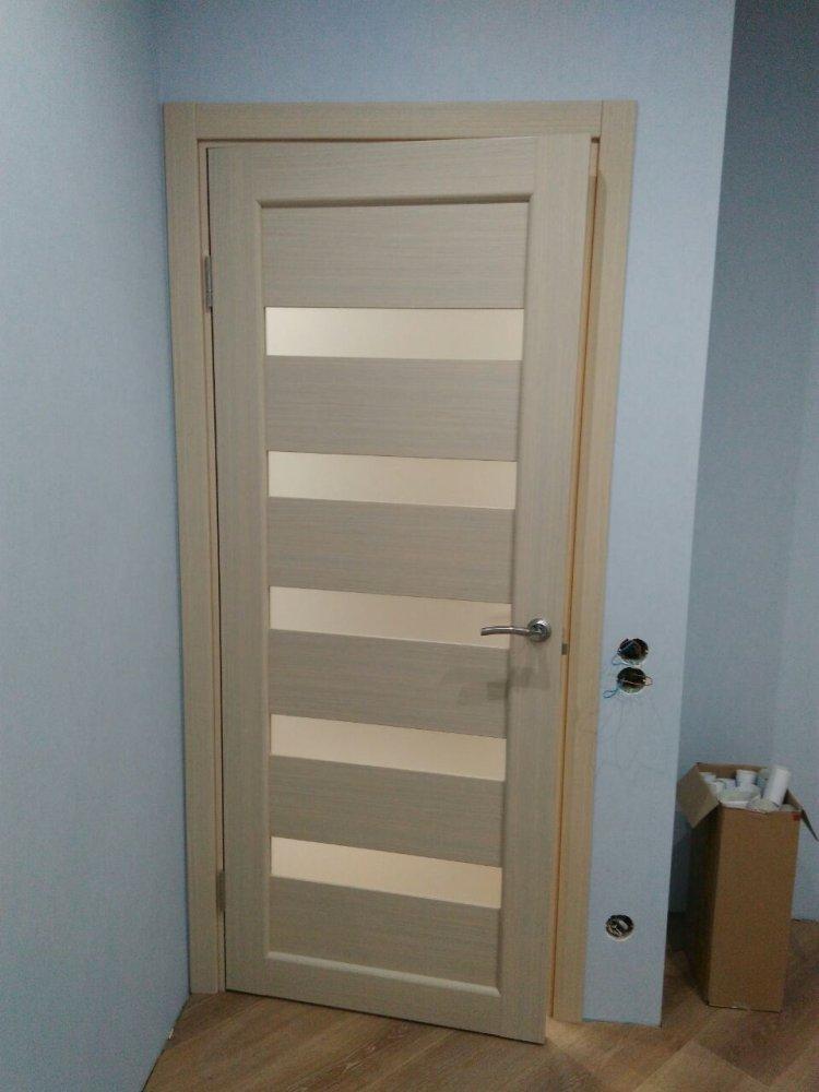Двери Porto PR-03 Корфад беленый дуб стекло Сатин - Межкомнатные двери — фото №2