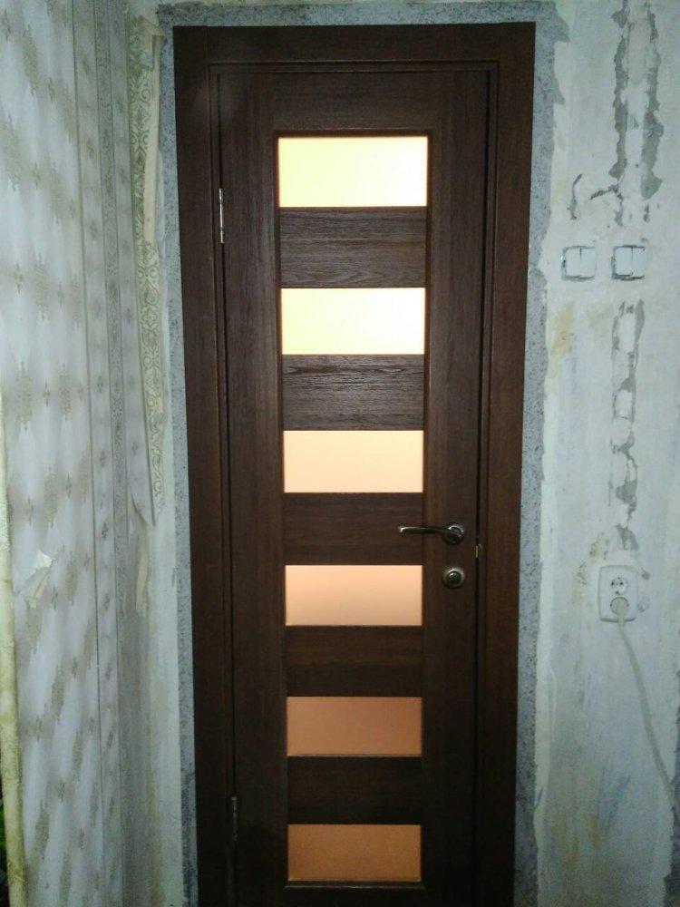 Двери Porto PR-04 Корфад орех стекло Сатин - Межкомнатные двери — фото №2