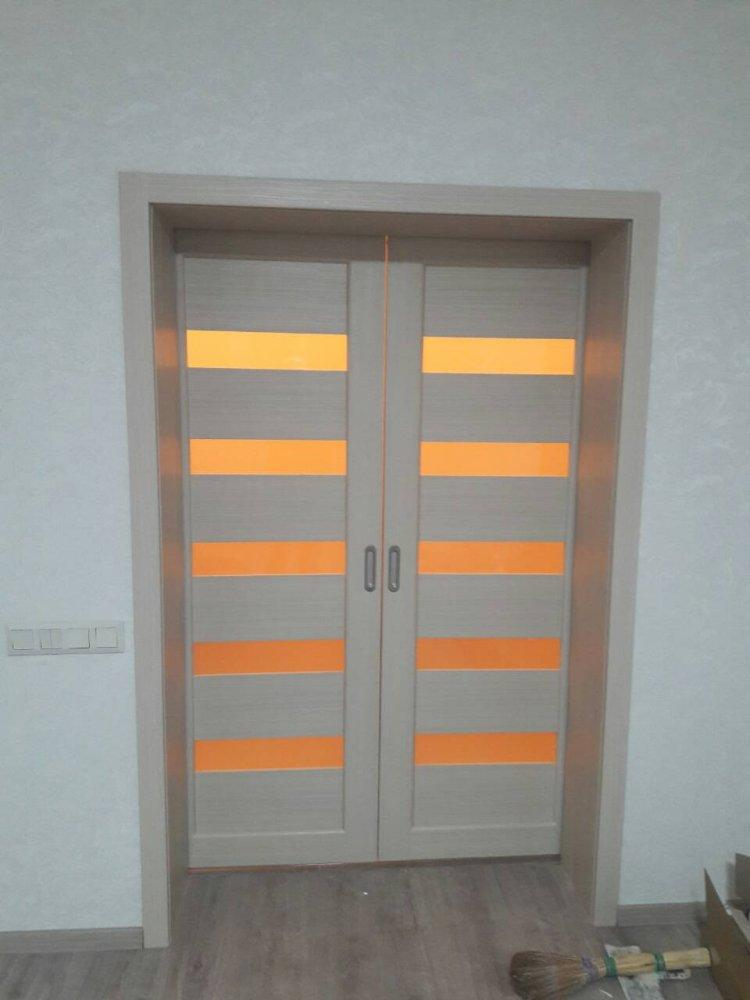 Двери Porto PR-08 Корфад беленый дуб стекло Сатин - Межкомнатные двери — фото №2