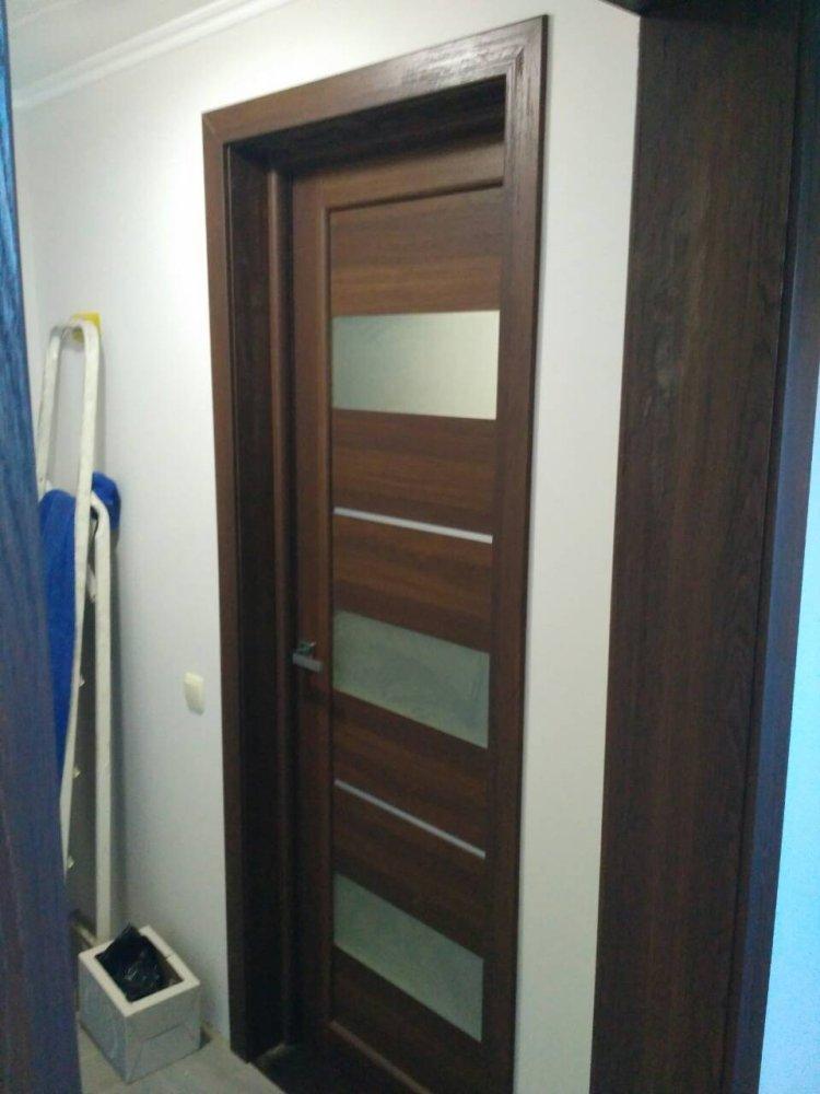Двери Porto PR-12 Корфад орех стекло Сатин - Межкомнатные двери — фото №2