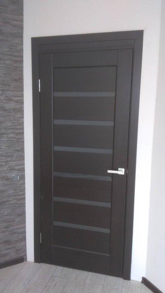 Двери Линнея Новый Стиль венге делюкс стекло Сатин - Межкомнатные двери — фото №2
