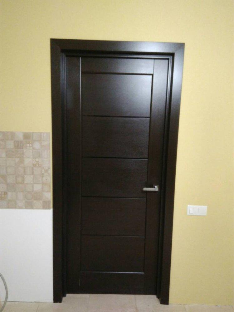 Двери Мира Новый Стиль венге делюкс стекло черное - Межкомнатные двери — фото №2