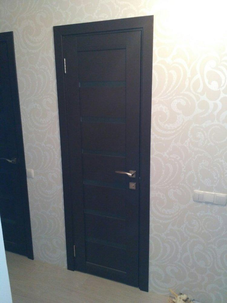 Двери ML-14c Папа Карло венге со стеклом - Межкомнатные двери — фото №2