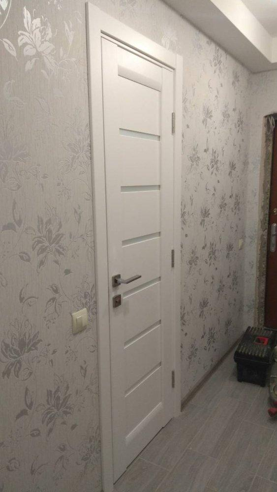 Двери ML-14c Папа Карло белый мат со стеклом - Межкомнатные двери — фото №2