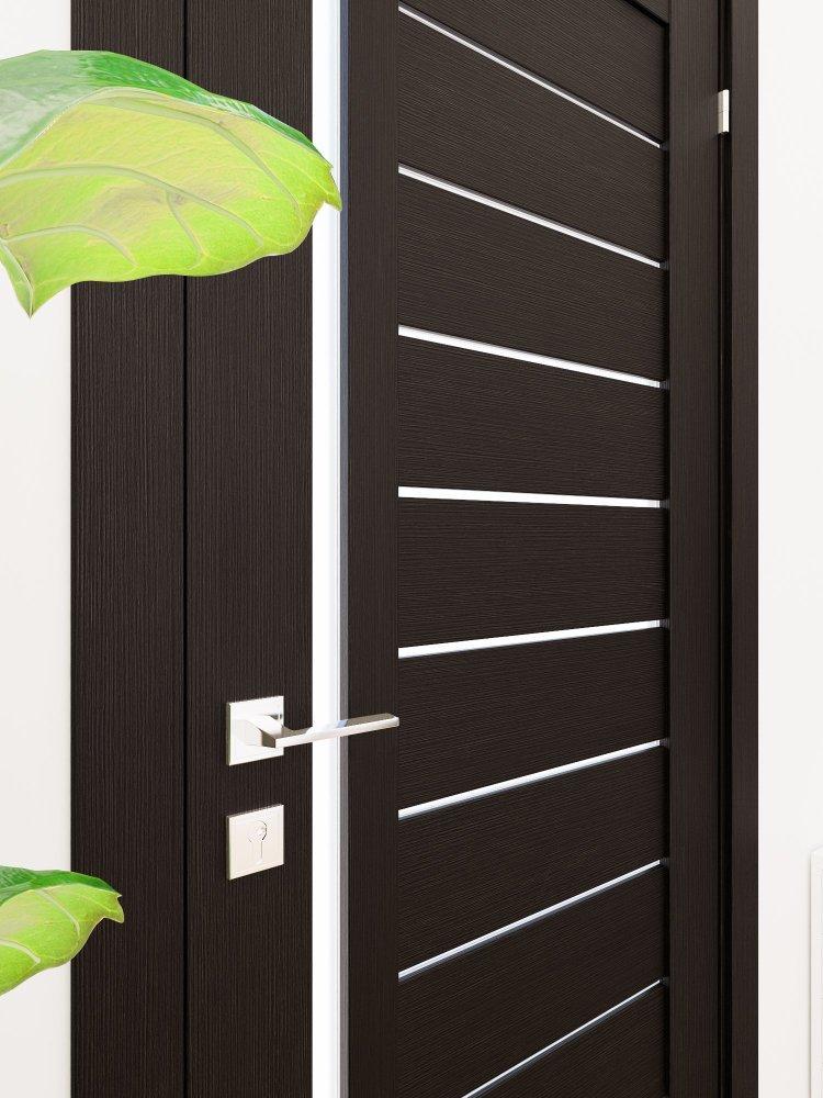 Двери Modern Bianca Родос венге шоколадный полустекло - Межкомнатные двери — фото №2