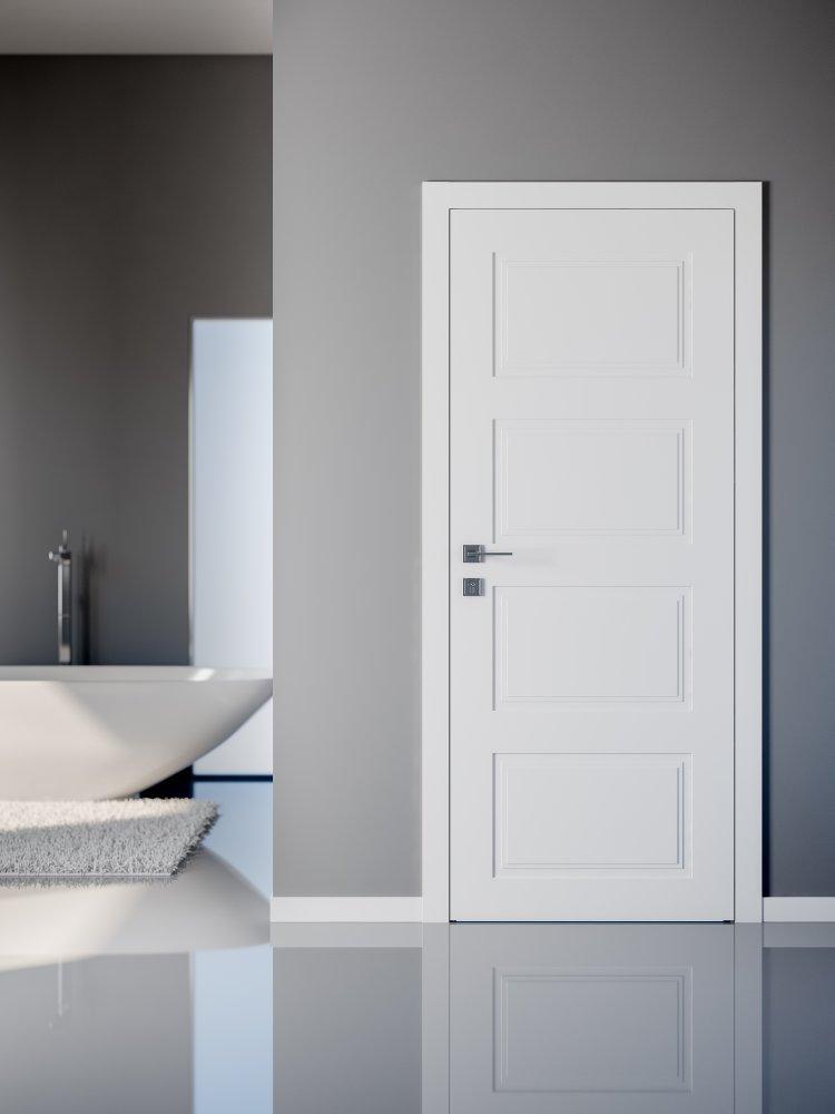 Двери Cortes Dolce Родос белая эмаль глухое - Межкомнатные двери — фото №3