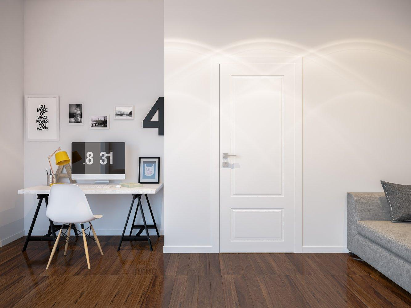 Двери Cortes Galant Родос белая эмаль глухое - Межкомнатные двери — фото №3