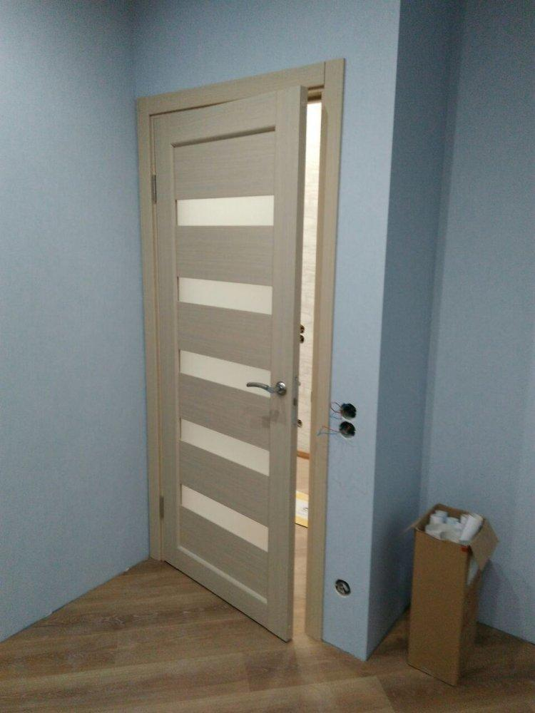 Двери Porto PR-03 Корфад беленый дуб стекло Сатин - Межкомнатные двери — фото №3